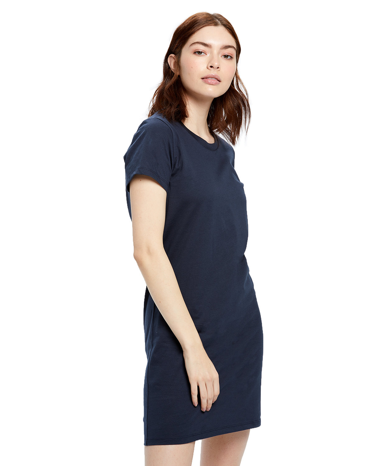US Blanks Ladies' Cotton T-Shirt Dress NAVY BLUE