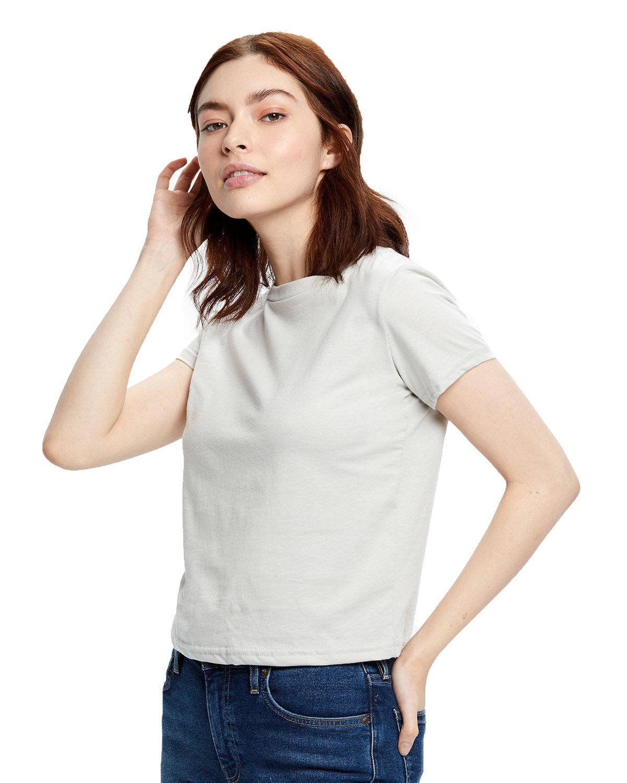US Blanks Ladies' Short Sleeve Crop T-Shirt SILVER