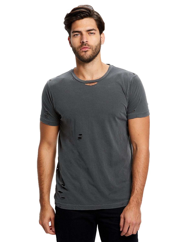 US Blanks Unisex Pigment-Dyed Destroyed T-Shirt PIGMENT BLACK