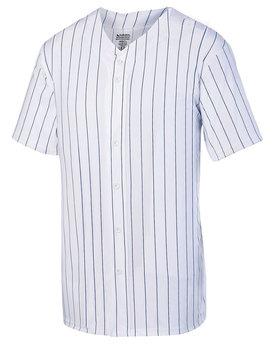 Augusta Drop Ship Unisex Pin Stripe Full Button Baseball Jersey