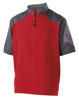 Holloway Unisex Ultra-Lightweight Aero-Tec™ Raider Short-Sleeve Warm-Up Pullover