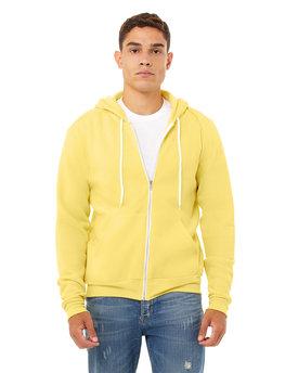 Bella + Canvas Unisex Poly-Cotton Fleece Full-Zip Hooded Sweatshirt
