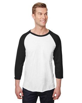 Jerzees Unisex Premium Blend Ring-Spun 3/4 Sleeve Raglan T-Shirt