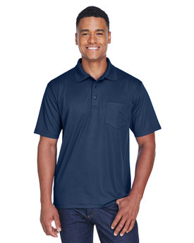 UltraClub Adult Cool & Dry Mesh PiquéPolo with Pocket
