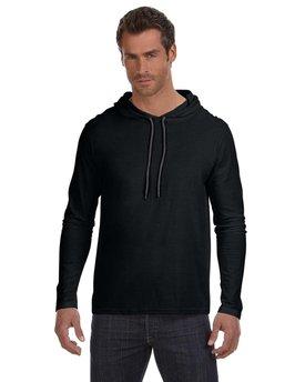 Anvil Adult Lightweight Long-Sleeve Hooded T-Shirt