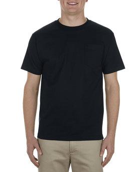 Alstyle Adult 6.0 oz., 100% Cotton Pocket T-Shirt