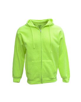 Bright Shield Adult Full-Zip Fleece Hood