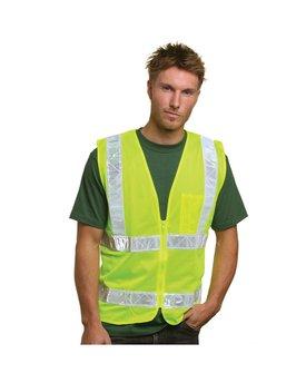 Bayside Mesh Safety Vest - Lime