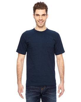 Bayside Adult 6.1 oz., 100% Cotton Pocket T-Shirt