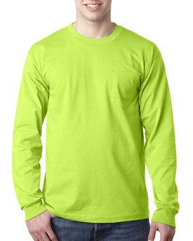 Bayside Adult 6.1 oz., 100% Cotton Long Sleeve Pocket T-Shirt