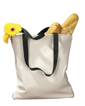 BAGedge Canvas Tote with Contrasting Handles