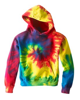 Tie-Dye Youth 8.5 oz. Tie-Dyed Pullover Hooded Sweatshirt