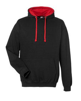 Just Hoods By AWDis Adult 80/20 Midweight Varsity Contrast Hooded Sweatshirt