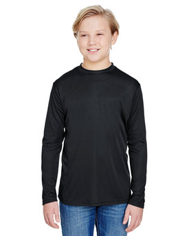 A4 Youth Long Sleeve Cooling Performance Crew Shirt
