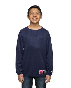 Rawlings Drop Ship Youth 8 oz., Polyester Fleece Crew