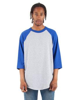Shaka Wear Drop Ship Adult 6 oz., 3/4-Sleeve Raglan T-Shirt