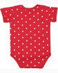 Rabbit Skins Infant Baby Rib Bodysuit RED/ WHITE DOT ModelBack