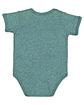 Rabbit Skins Infant Fine Jersey Bodysuit ICE BLACKOUT ModelBack