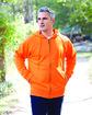 UltraClub Adult Rugged Wear Thermal-Lined Full-Zip Fleece Hooded Sweatshirt  Lifestyle