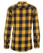 Burnside Men's Plaid Flannel Shirt GOLD/ BLACK ModelBack