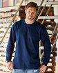 Bayside Adult 6.1 oz., Cotton Long Sleeve T-Shirt  Lifestyle