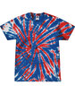 Tie-Dye Adult 5.4 oz., 100% Cotton T-Shirt UNION JACK FlatFront