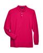Devon & Jones Men's Pima Piqué Long-Sleeve Polo RED FlatFront