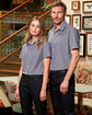 Artisan Collection by Reprime Mens Microcheck Gingham Short-Sleeve Cotton Shirt  Lifestyle