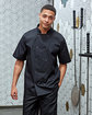 Artisan Collection by Reprime Unisex Studded Front Short-Sleeve Chef's Coat  Lifestyle