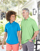 UltraClub Men's PlatinumPerformance Piqué Polo with TempControl Technology  Lifestyle